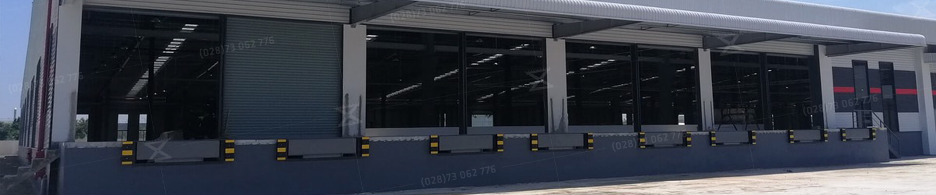 cầu dẫn container - sàn nâng forklift - dock leveler